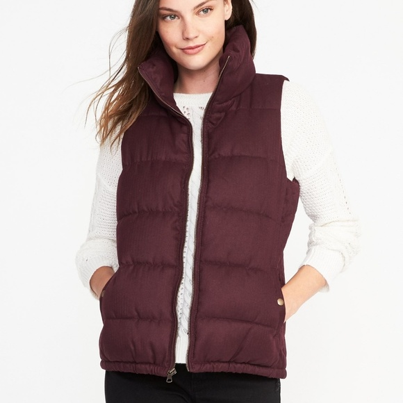 Old Navy Jackets & Blazers - Old Navy Wine Puffer Vest